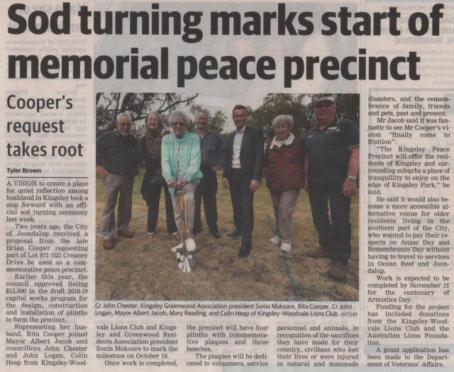 Peace precinct crop
